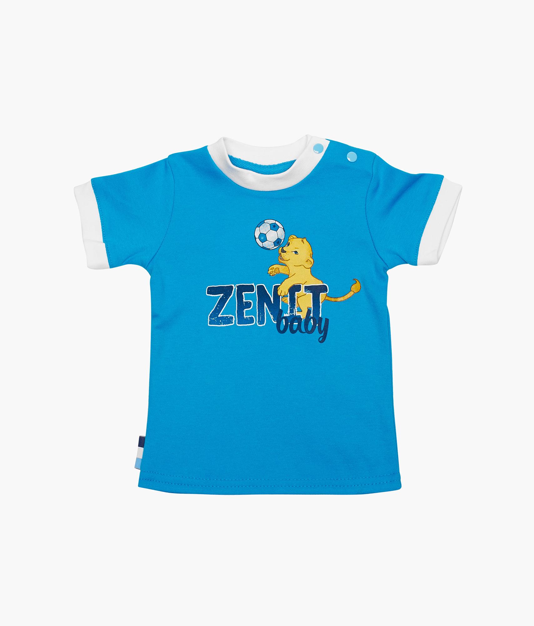 Футболка детская Зенит Зенит Цвет-Лазурный футболка зенит со своей фамилией