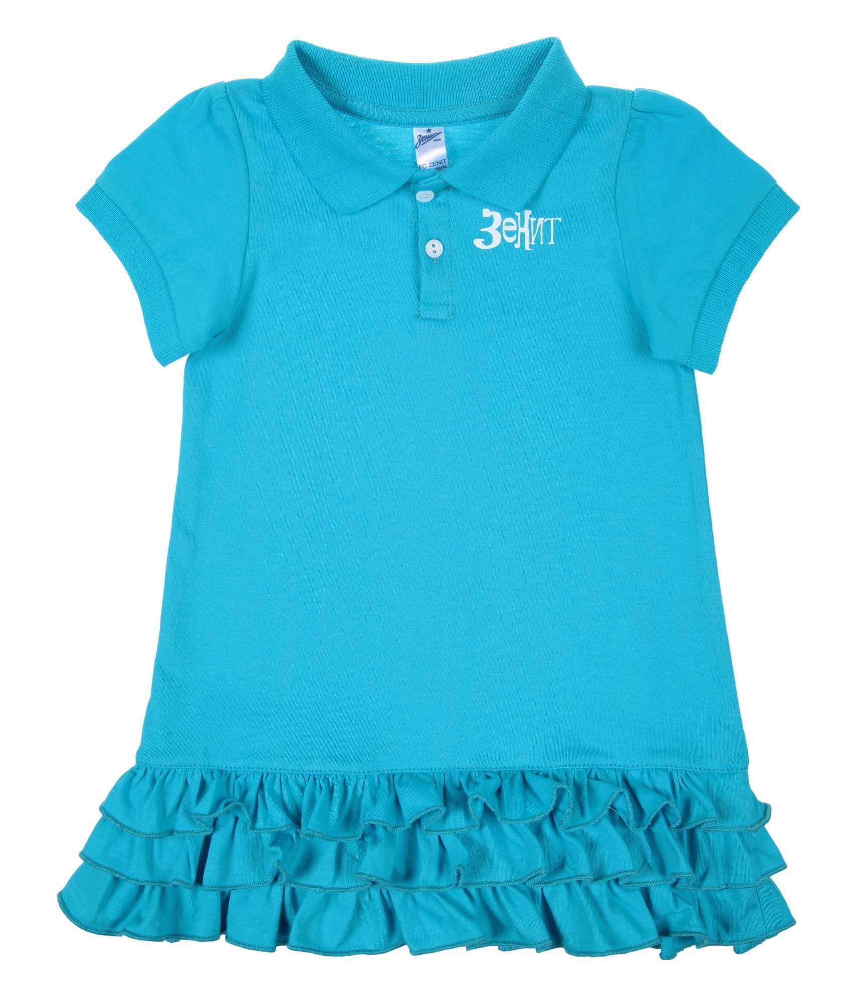 Платье детское, Цвет-Лазурный, Размер-9-12