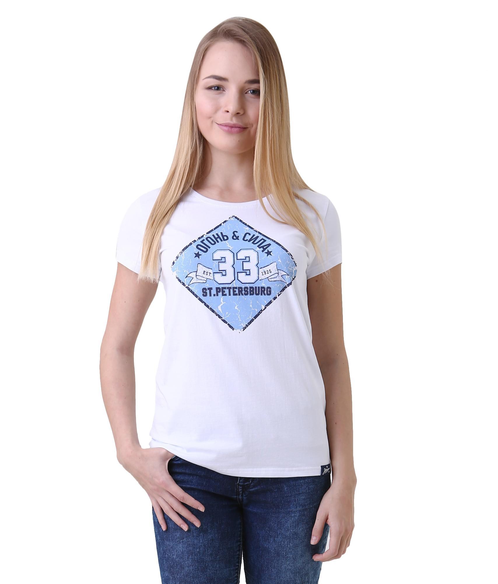 Футболка женская, Цвет-Белый, Размер-L футболка женская moodo цвет белый сиреневый серый l ts 2045 white размер m 46