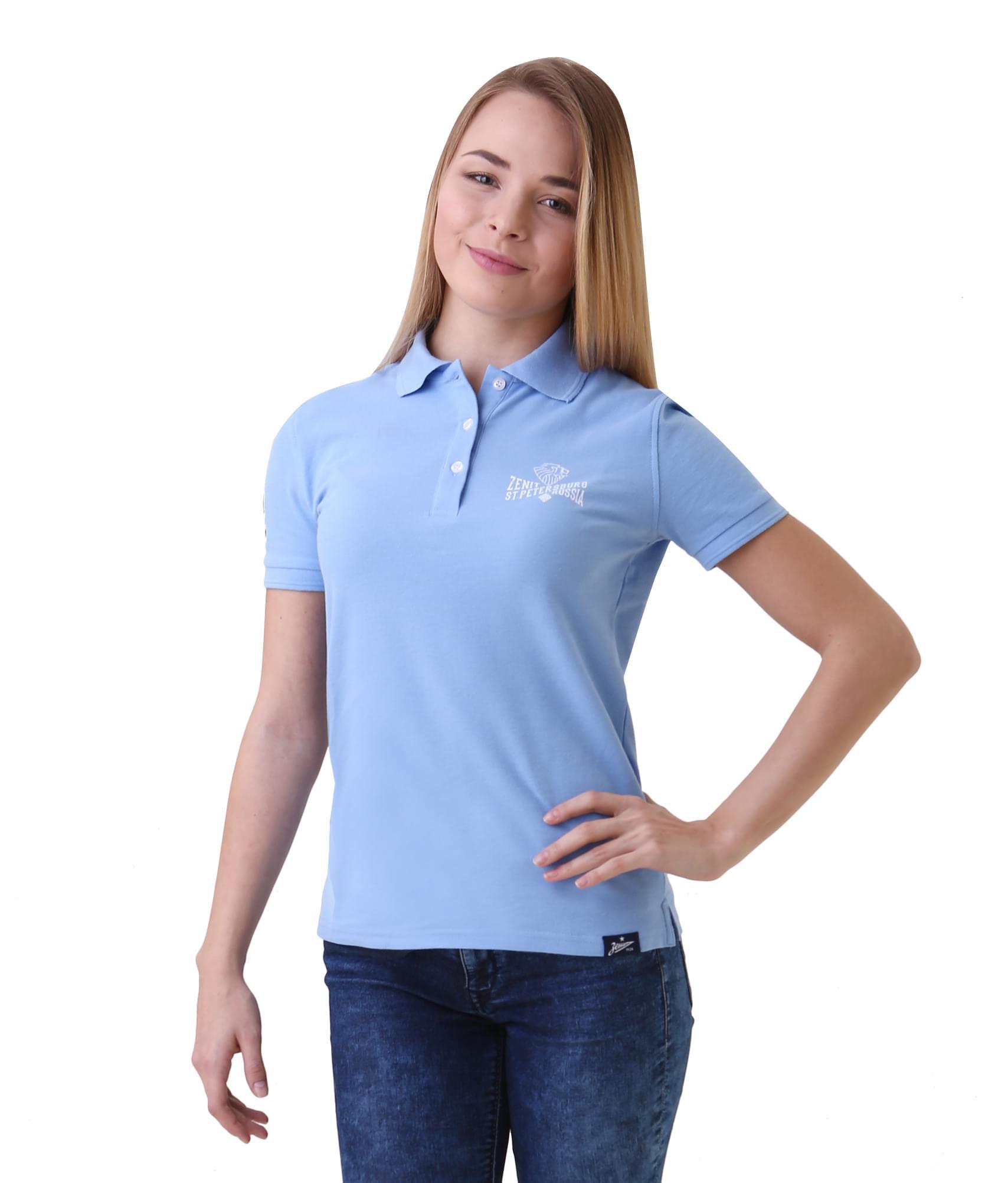 Поло женское, Цвет-Голубой, Размер-M поло nike цвет голубой размер m
