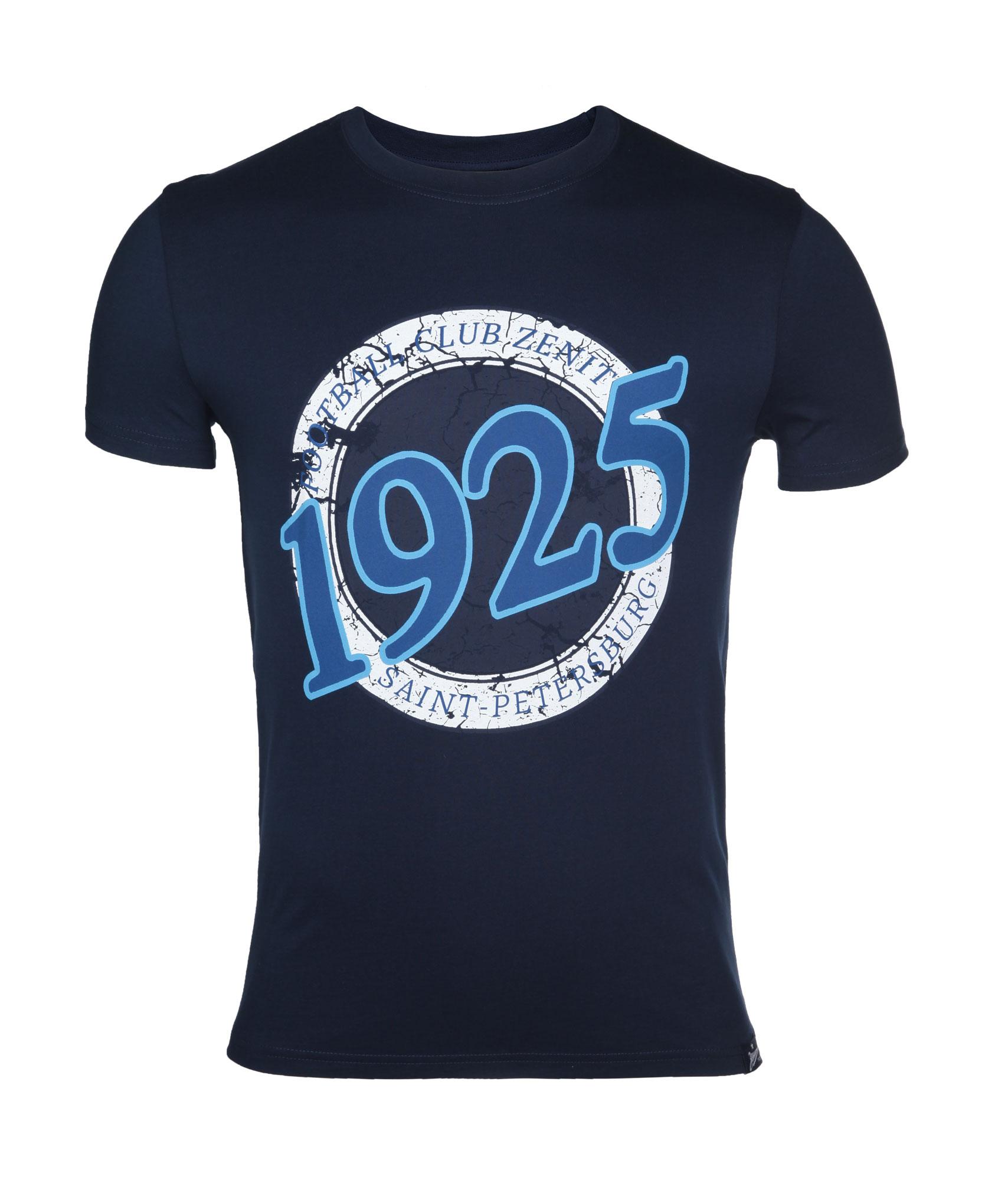 Мужская футболка Зенит Цвет-Темно-Синий футболка wearcraft premium slim fit printio фк зенит