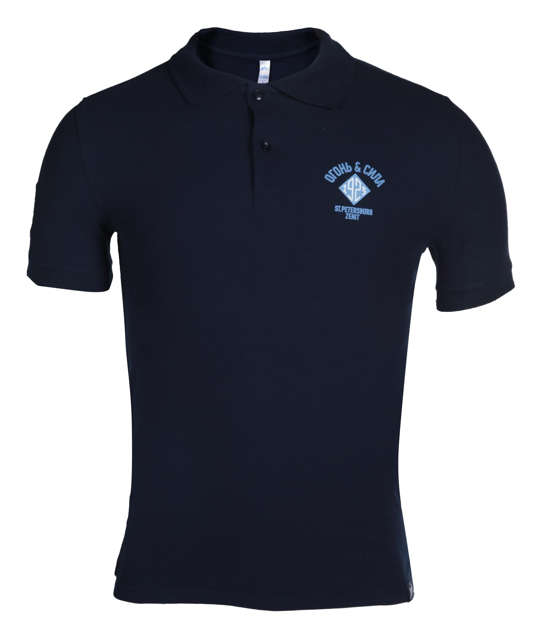Поло мужское Зенит Цвет-Темно-Синий поло springfield springfield sp014emaiic1