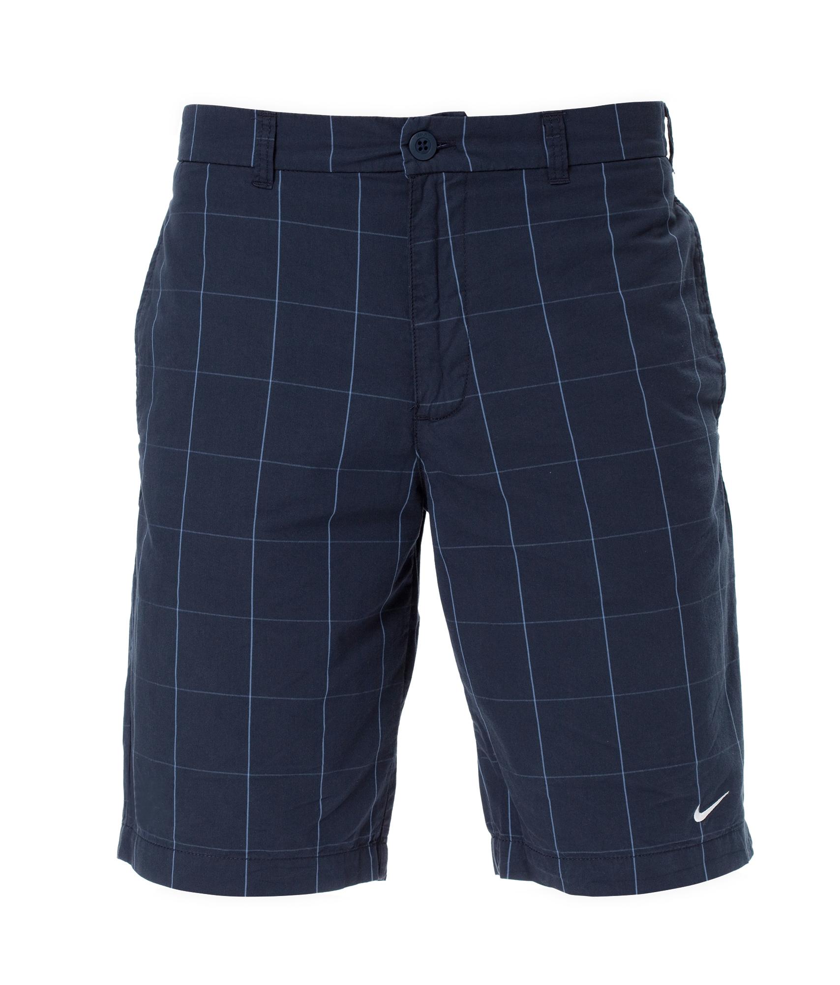 Шорты Nike Sideline Plaid Woven Short, Цвет-Черно-Синий, Размер-M