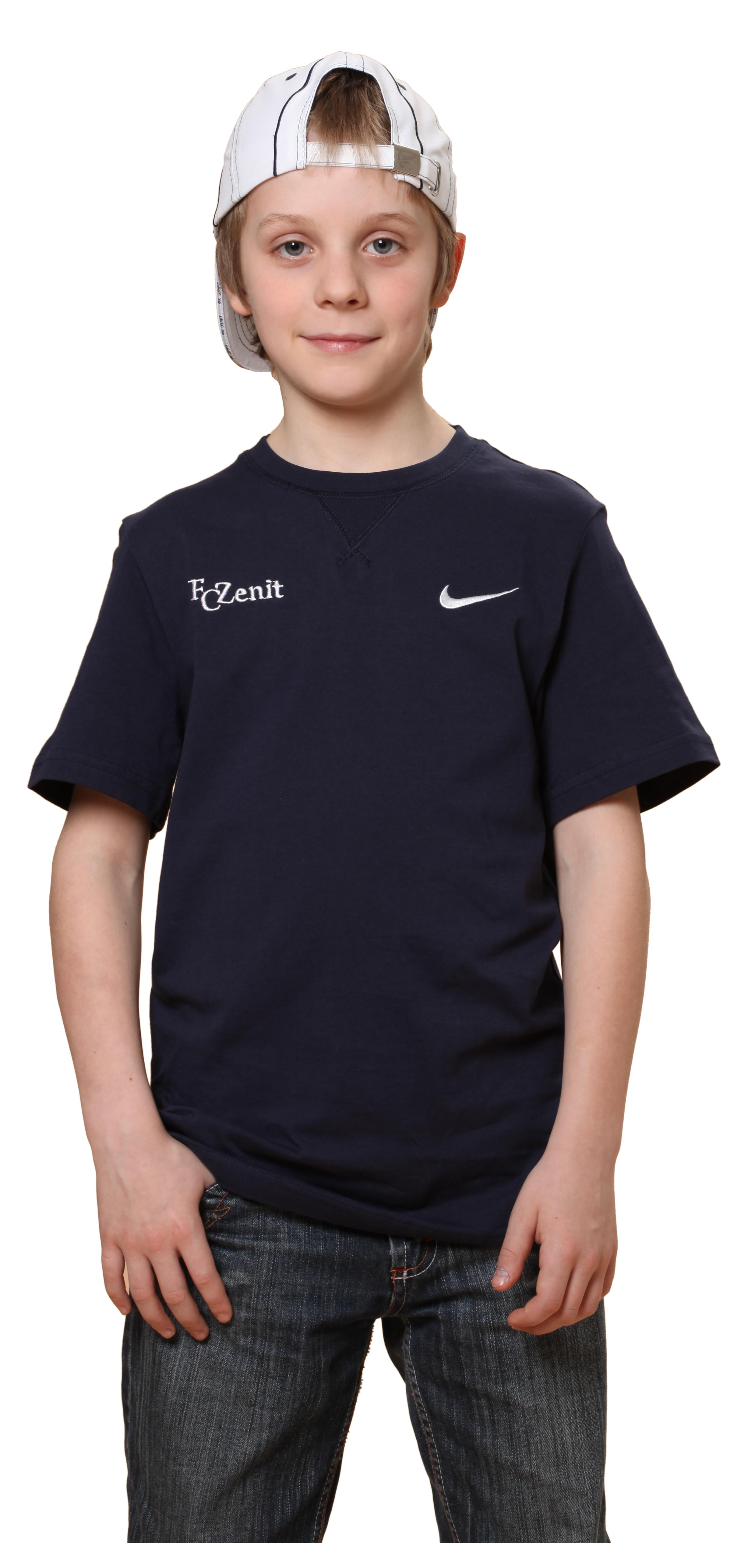 Футболка Nike Swoosh Crew, Цвет-Синий, Размер-L