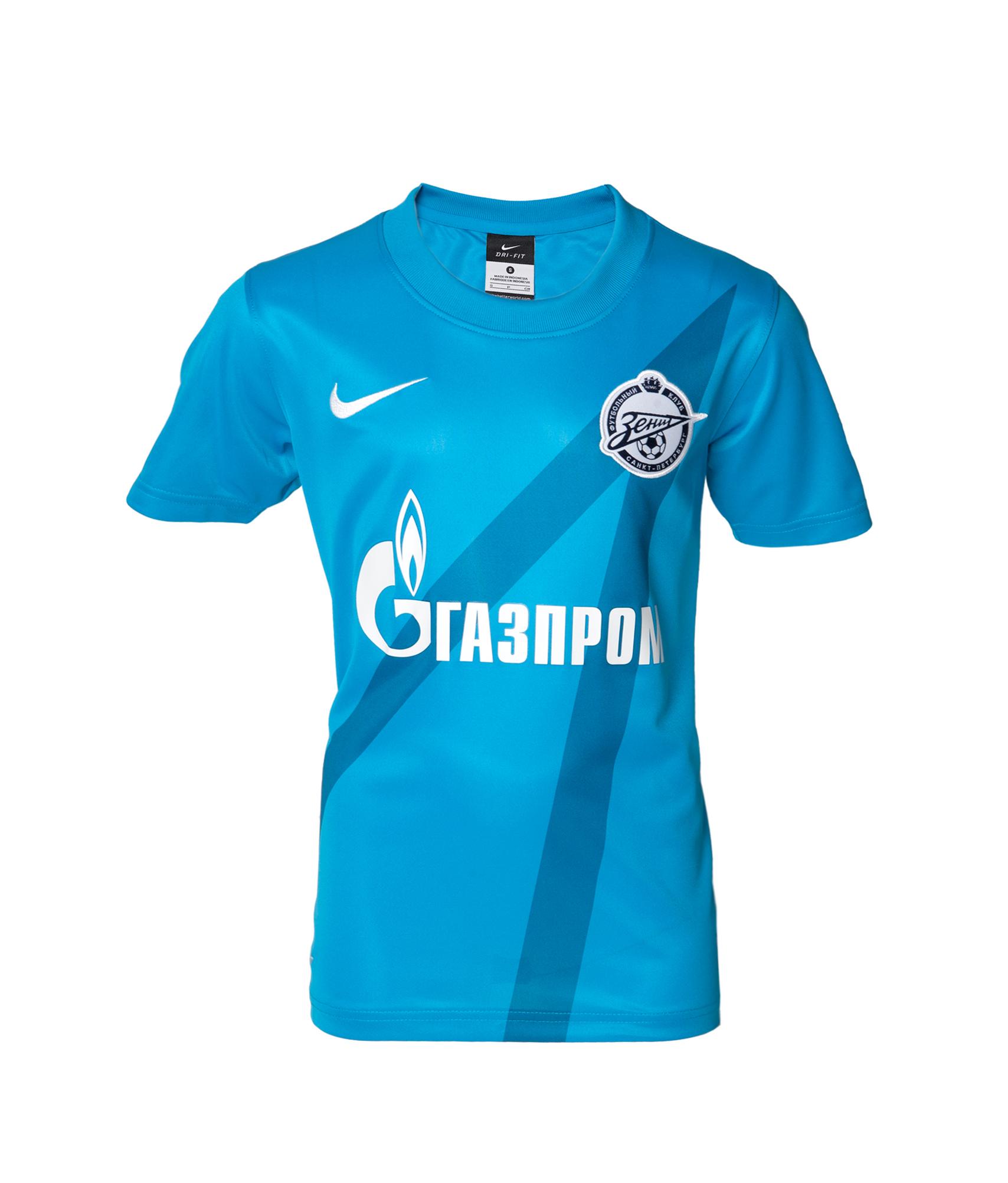 Детская футболка Nike 2012 лазурная, Цвет-Синий, Размер-L