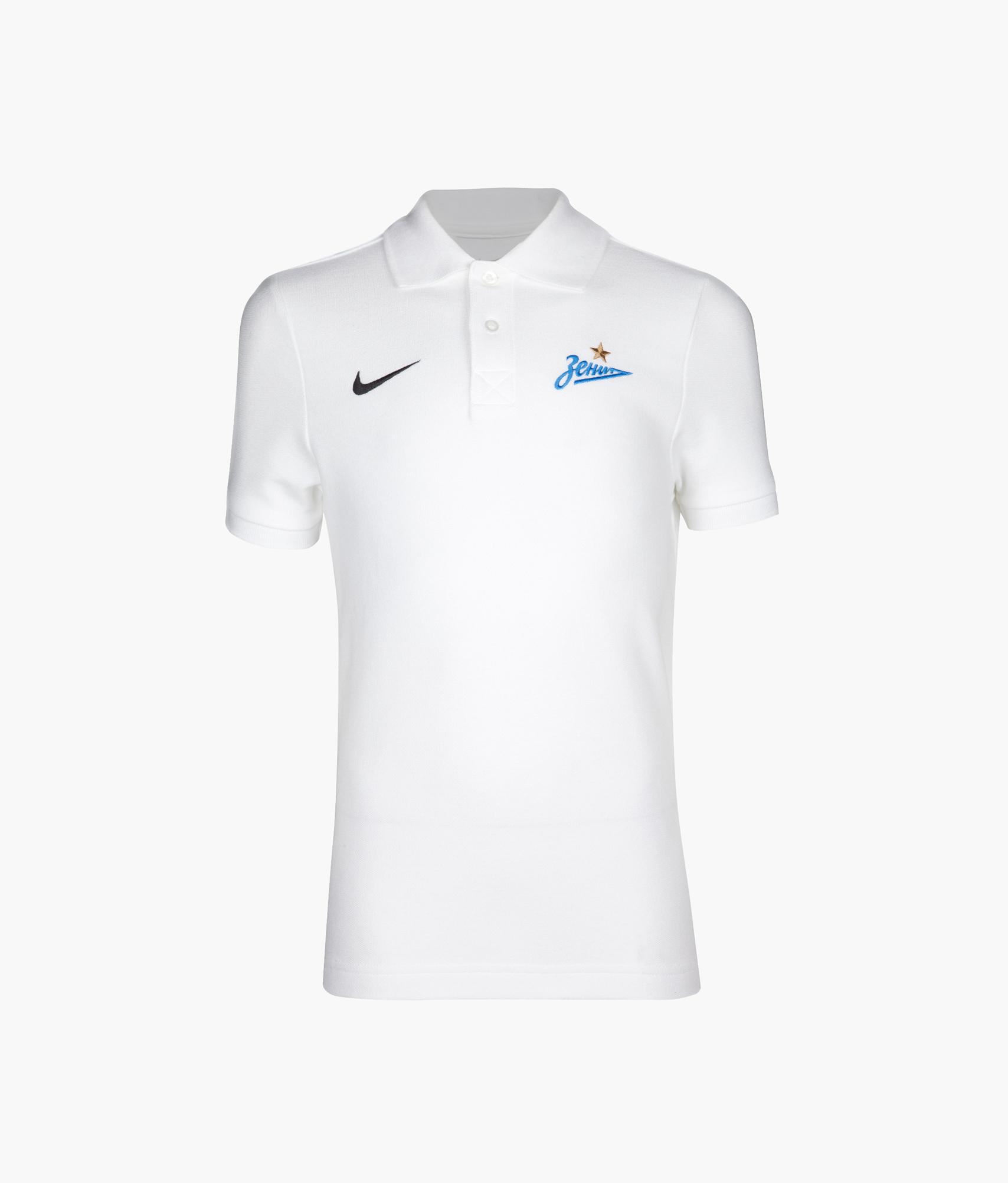 Поло подростковое Nike, Цвет-Белый, Размер-XS поло nike цвет голубой размер m
