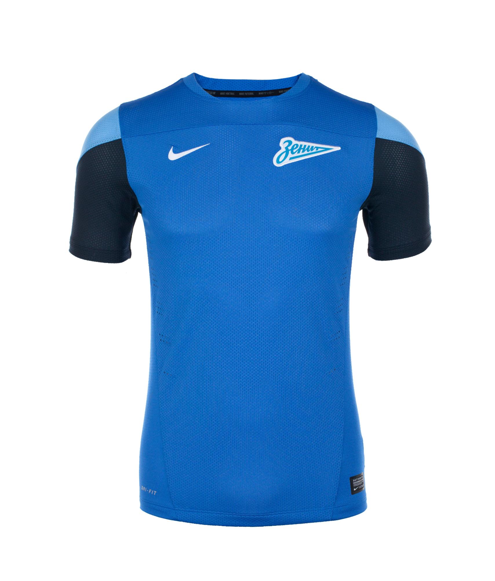 Футболка тренировочная Nike Zenit Select SS TRNG TOP, Цвет-Синий, Размер-L