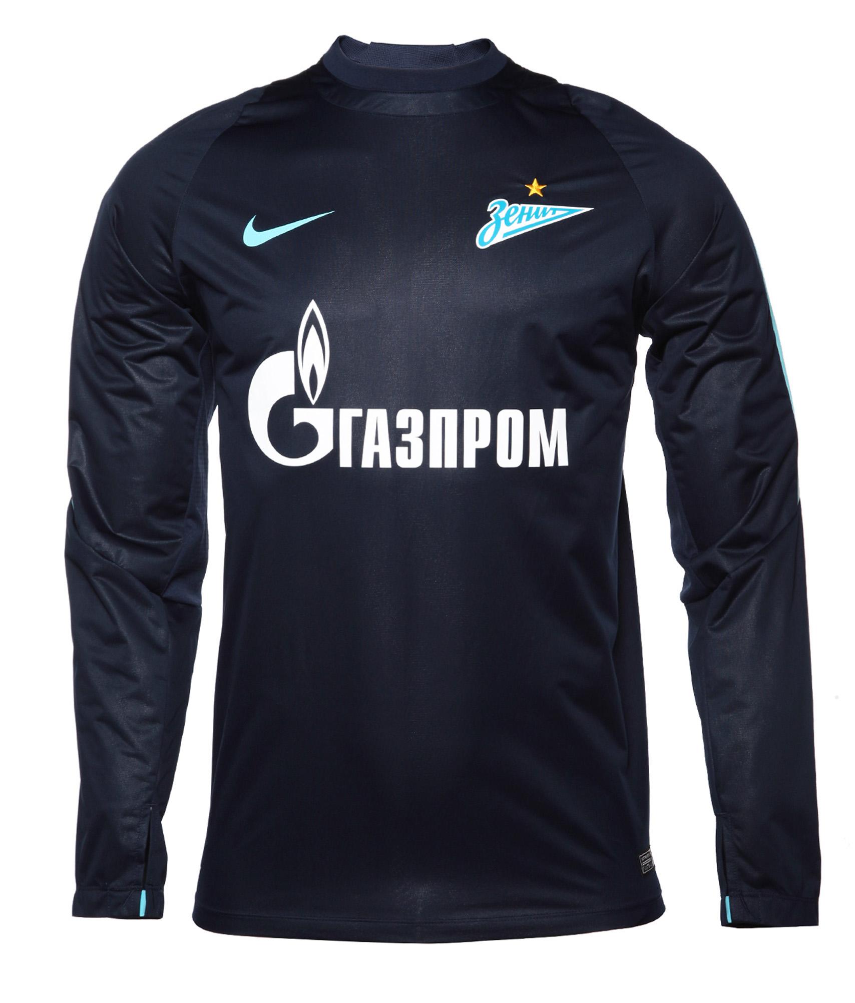 Джемпер тренировочный Nike Nike Цвет-Синий джемперы nike джемпер nike element sphere 1 2 zip