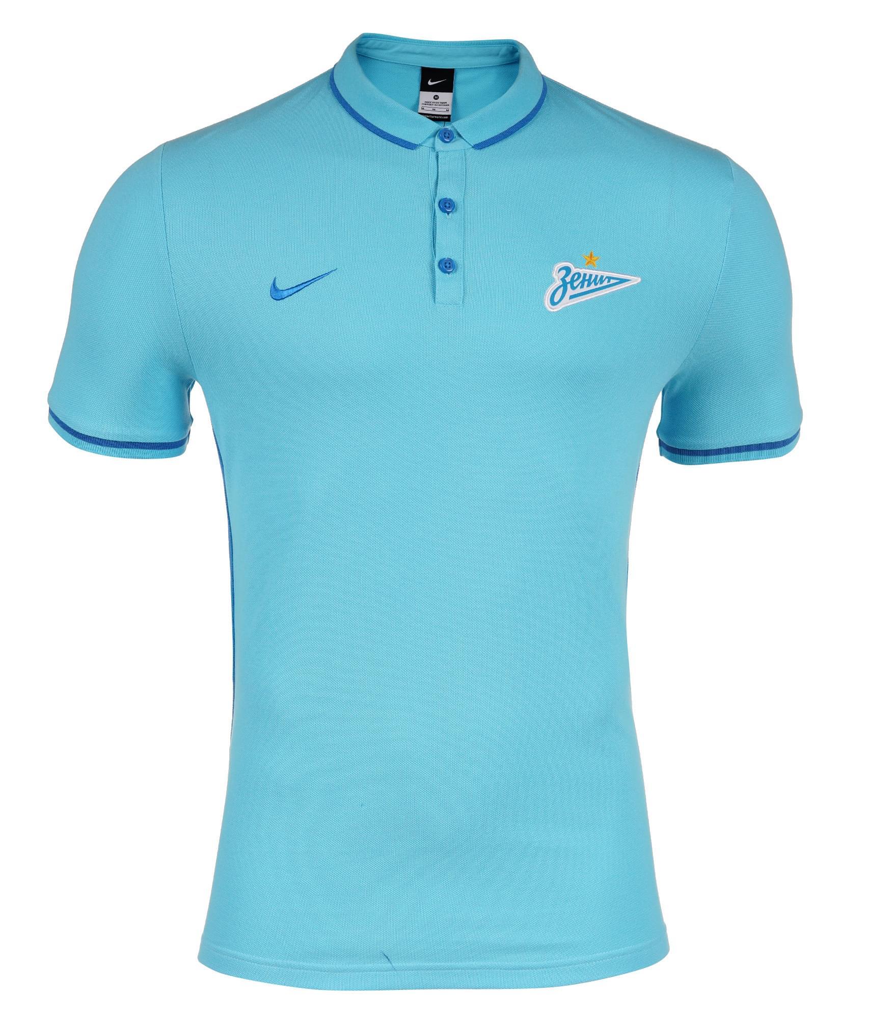 Поло Nike LGE ZENITH AUTH POLO, Цвет-Голубой, Размер-S поло nike размер s