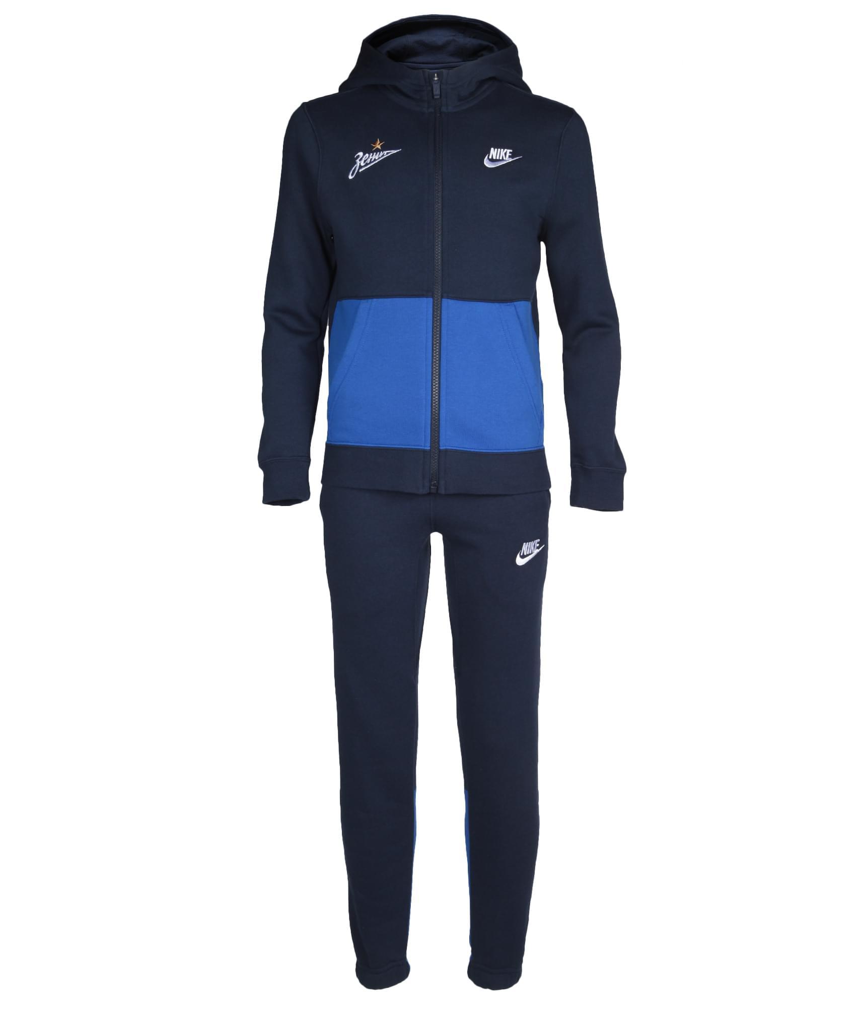 Костюм спортивный подростковый Nike, Цвет-Темно-Синий,