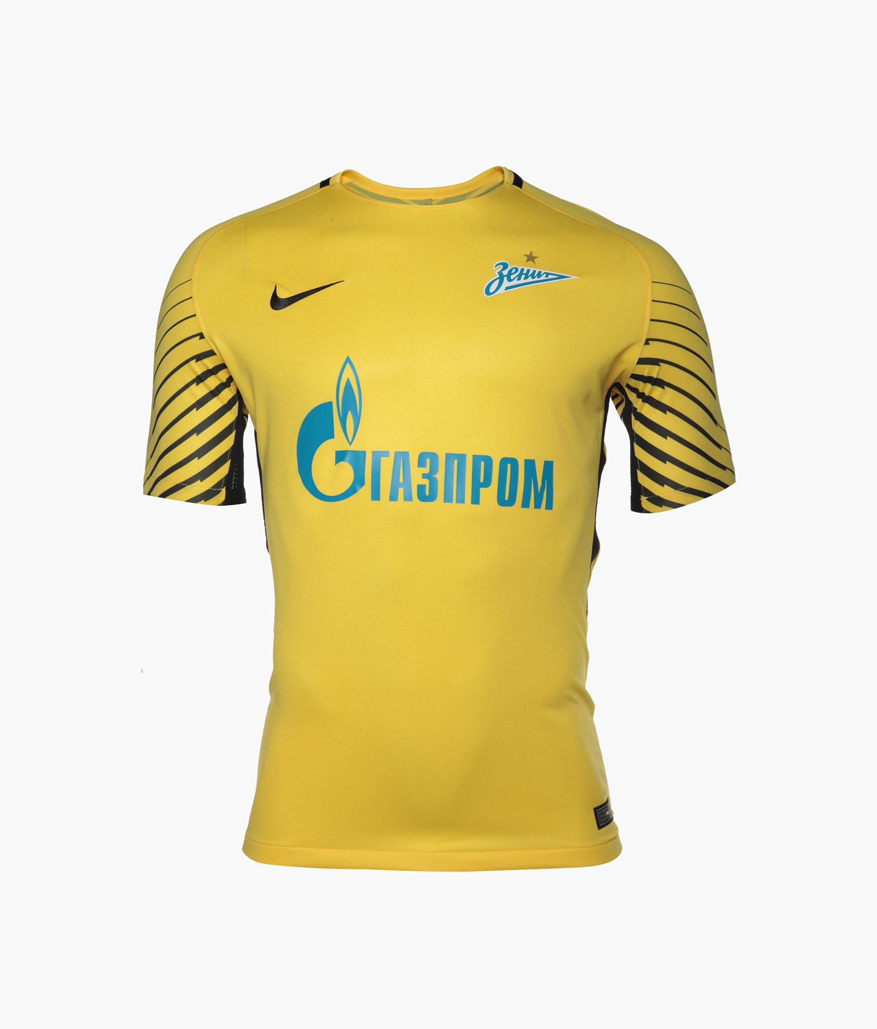Футболка вратарская Nike сезона 2017/2018 Nike Цвет-Желтый