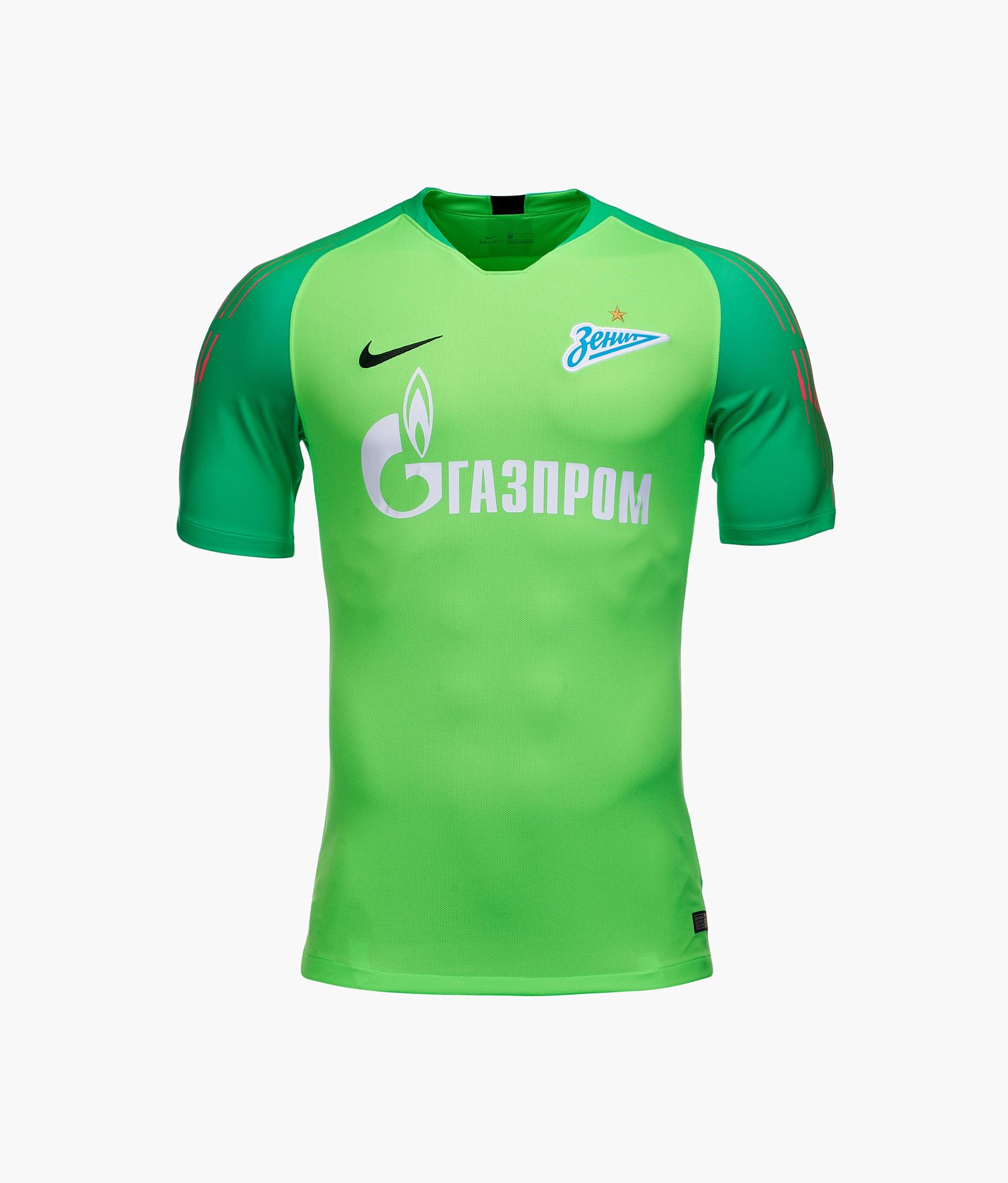 Футболка вратарская сезона 2018/2019 Nike Цвет-Зеленый футболка вратарская подростковая сезона 2018 2019 nike цвет желтый