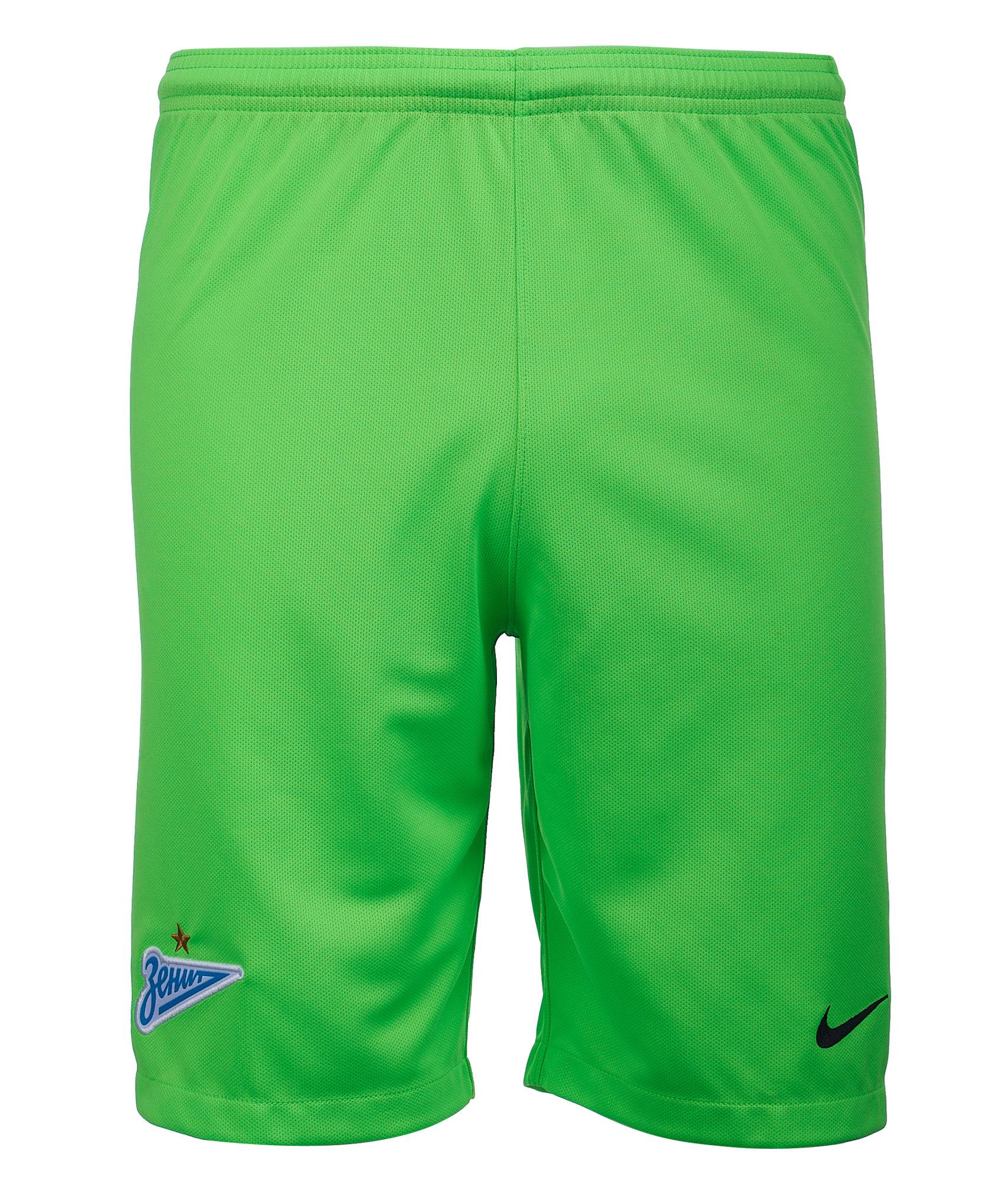 Шорты вратарские подростковые Nike сезона 2018/2019 Nike Цвет-Зеленый