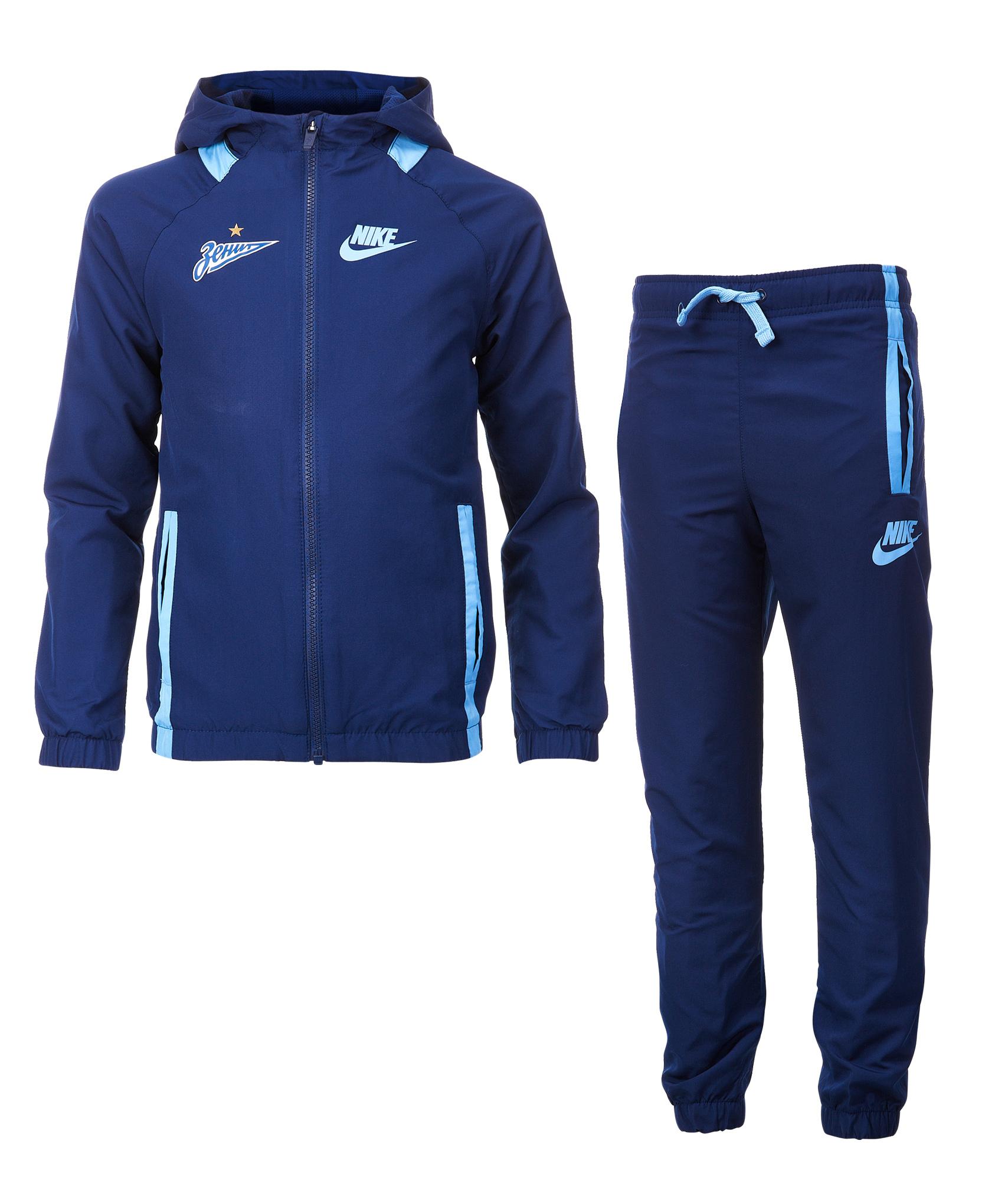 Костюм спортивный подростковый Nike Nike Цвет-Темно-Синий лонгслив спортивный nike nike ni464ewaagy1
