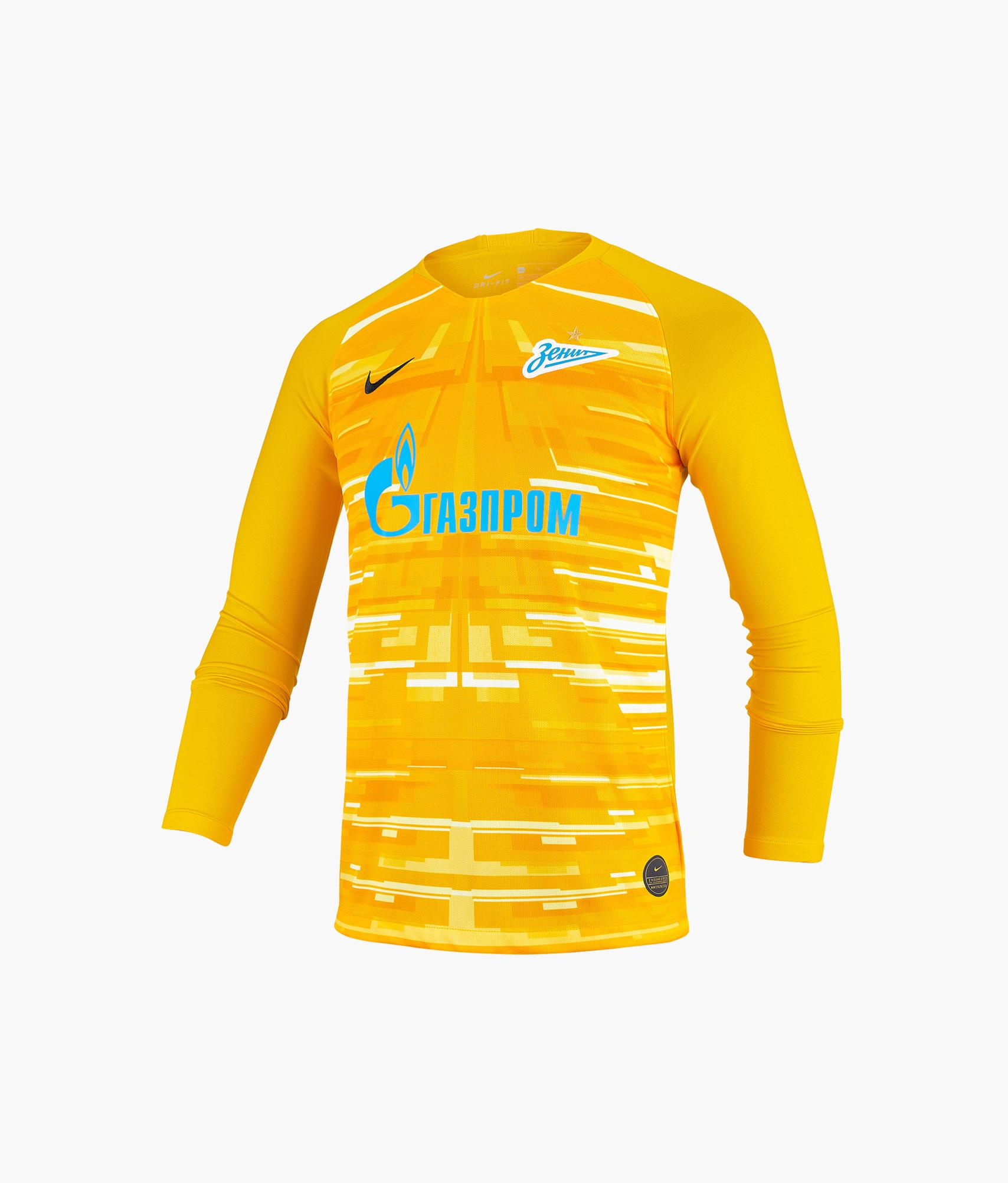 Футболка вратарская подростковая сезона 2019/20 Nike Цвет-Золотой