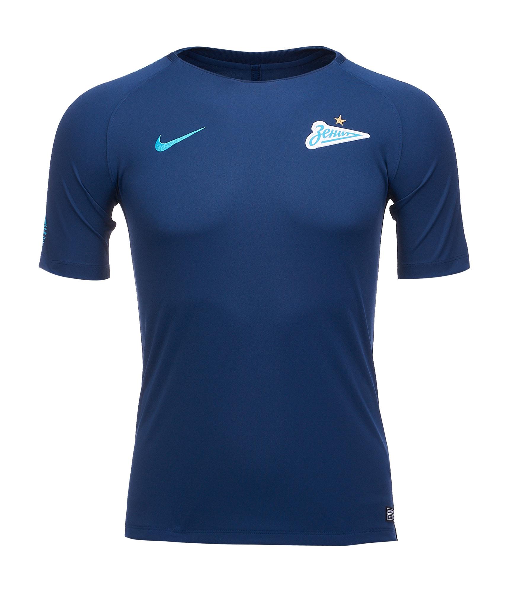 Футболка подростковая тренировочная Nike Zenit 2018/19 Nike шорты тренировочные подростковые nike zenit 2018 19 nike