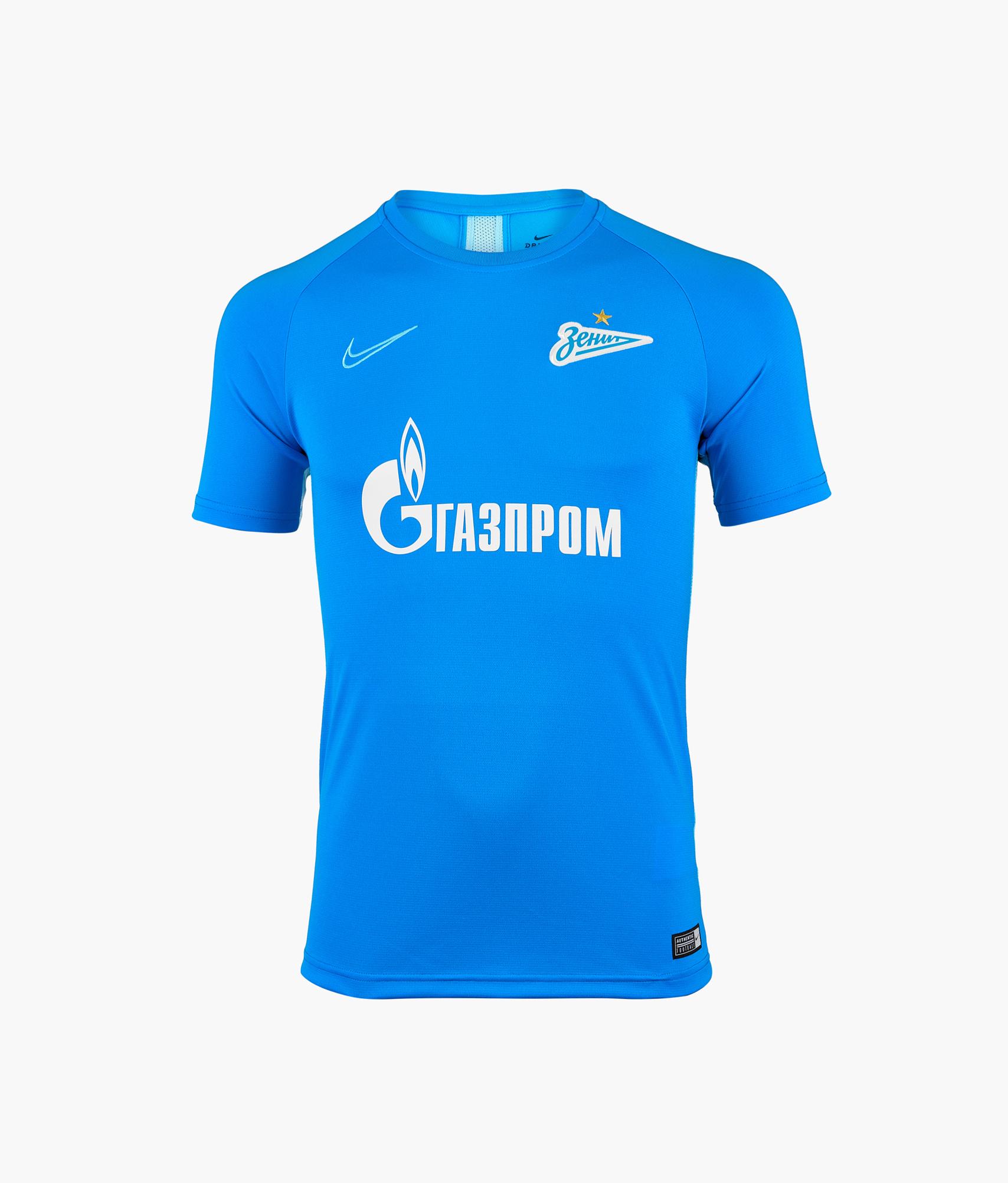 Футболка тренировочная подростковая Nike Zenit 2019/20 Nike Цвет-Синий цена