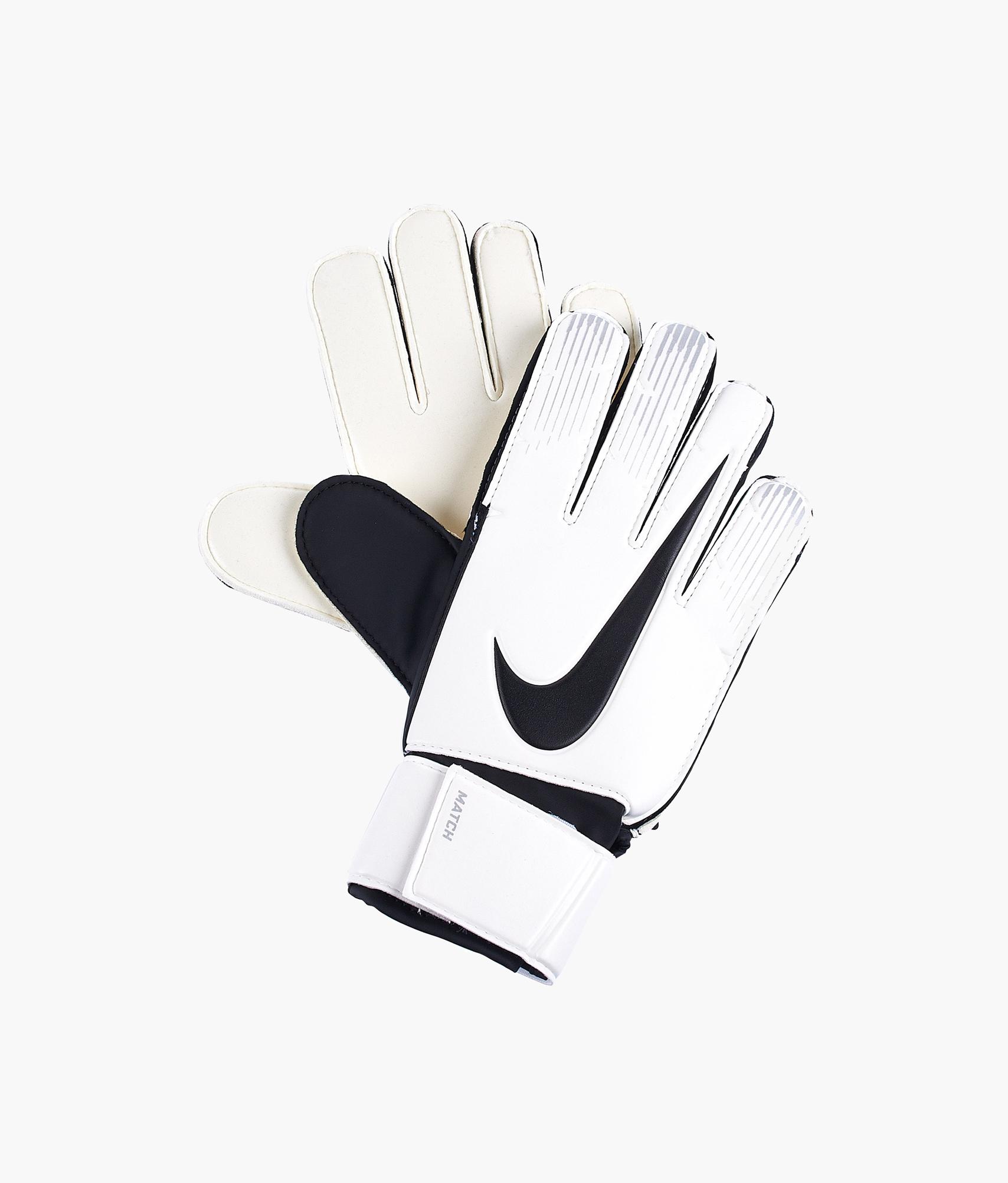 Перчатки вратарские NIKE GK MATCH Nike Цвет-Белый перчатки вратаря nike gs3256 13